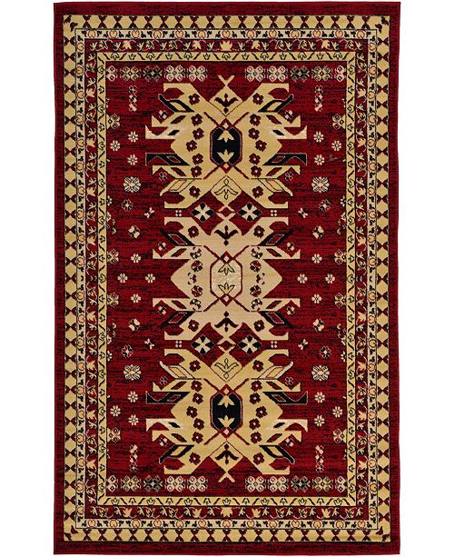 Bridgeport Home Charvi Chr1 Red 5' x 8' Area Rug