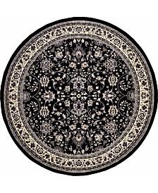 Arnav Arn1 Black 8' x 8' Round Area Rug