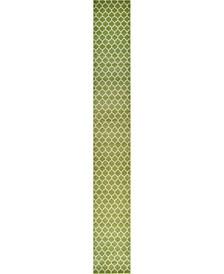 "Arbor Arb1 Light Green 2' 7"" x 19' 8"" Runner Area Rug"