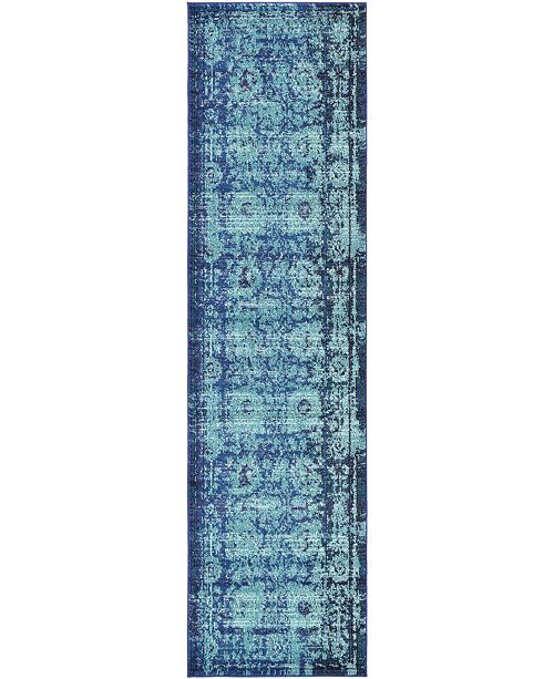 "Bridgeport Home Sana San4 Turquoise 2' 7"" x 10' Runner Area Rug"