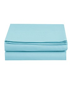 Elegant Comfort Silky Soft Single Flat Set King Aqua