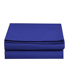 Elegant Comfort Silky Soft Single Flat Set King Royal Blue