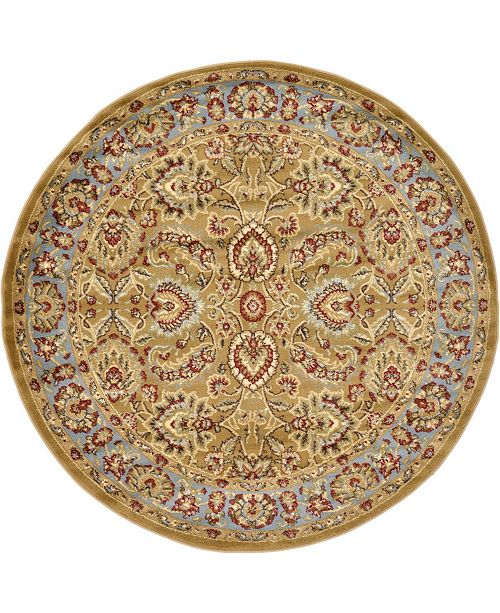 Bridgeport Home Passage Psg9 Dark Yellow 6' x 6' Round Area Rug