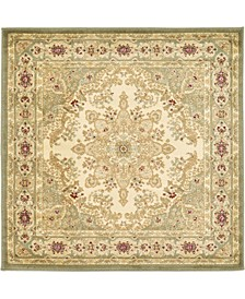 Belvoir Blv1 Ivory/Green 4' x 4' Square Area Rug