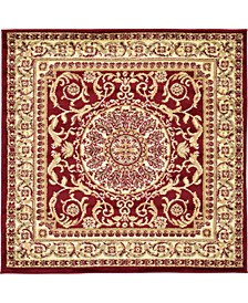 Belvoir Blv2 Red 4' x 4' Square Area Rug