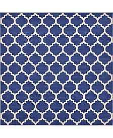 Bridgeport Home Arbor Arb1 Dark Blue 10' x 10' Square Area Rug