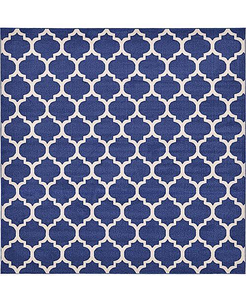 Bridgeport Home Arbor Arb1 Dark Blue 10' x 10' Square Area Rug