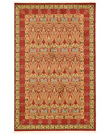 Orwyn Orw3 Red/Tan 5' x 8' Area Rug