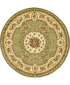 Belvoir Blv4 Green 6' x 6' Round Area Rug
