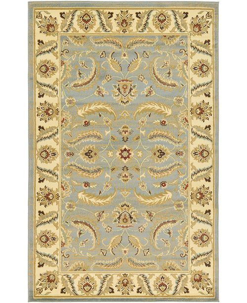 Bridgeport Home Passage Psg1 Light Blue 5' x 8' Area Rug