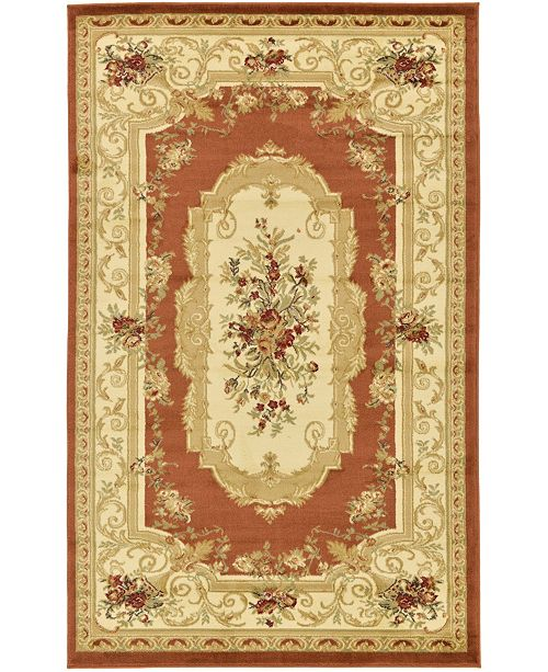 Bridgeport Home Belvoir Blv3 Brick Red 5' x 8' Area Rug