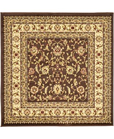 Passage Psg4 Brown 4' x 4' Square Area Rug
