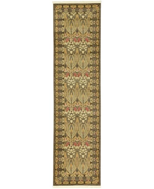 "Bridgeport Home Orwyn Orw3 Brown 2' 7"" x 10' Runner Area Rug"