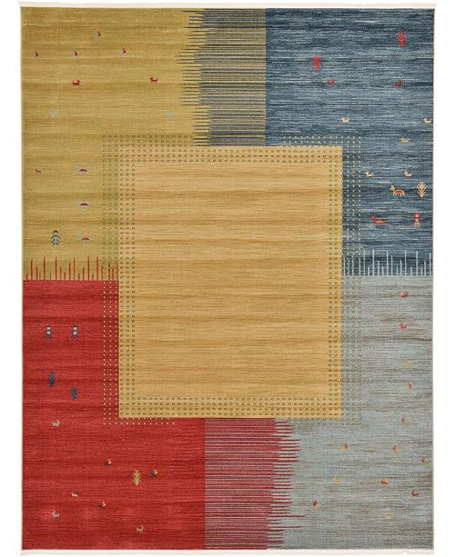 Bridgeport Home Ojas Oja9 Tan 9' x 12' Area Rug