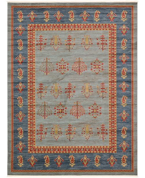 Bridgeport Home Ojas Oja2 Light Blue 9' x 12' Area Rug