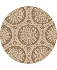 Pashio Pas5 Brown 6' x 6' Round Area Rug