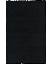 Exact Shag Exs1 Jet Black 5' x 8' Area Rug
