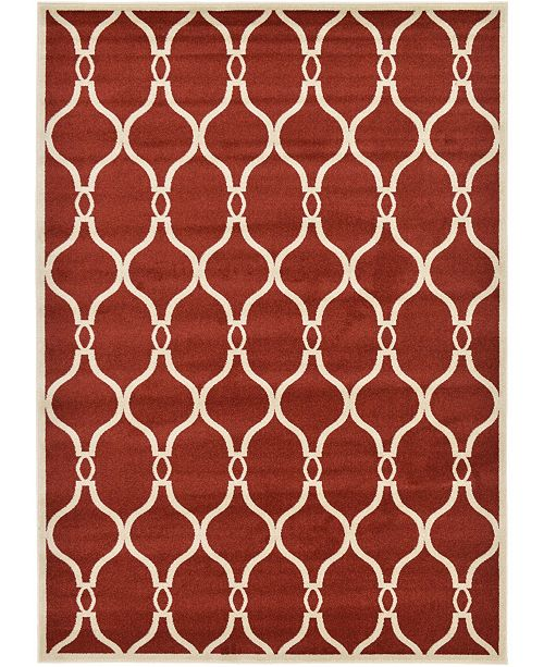 Bridgeport Home Arbor Arb6 Red 7' x 10' Area Rug