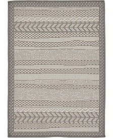 "Bridgeport Home Pashio Pas4 Gray 2' 2"" x 3' Area Rug"