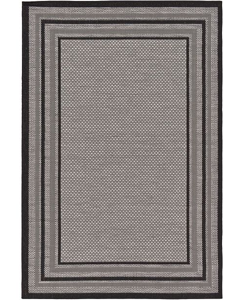 "Bridgeport Home Pashio Pas6 Gray 5' 3"" x 8' Area Rug"