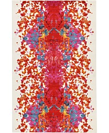 Bridgeport Home Pari Par9 Red 5' x 8' Area Rug