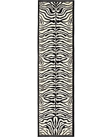 "Bridgeport Home Maasai Mss4 Beige 2' 7"" x 10' Runner Area Rug"