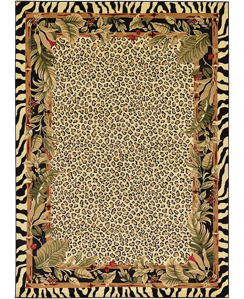 Bridgeport Home Maasai Mss1 Ivory 7' x 10' Area Rug