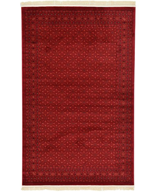Bridgeport Home Vivaan Viv1 Red 5' x 8' Area Rug