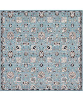 """Wisdom Wis1 Light Blue 8' 4"""" x 8' 4"""" Square Area Rug"""