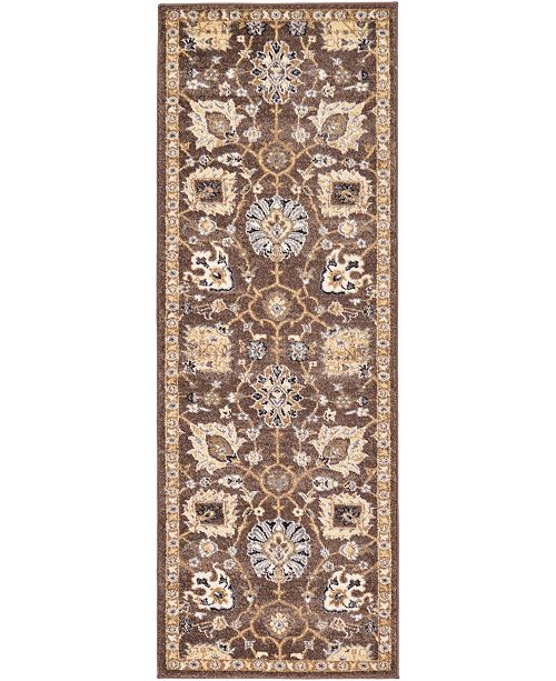 "Bridgeport Home Wisdom Wis1 Brown 2' 2"" x 6' Runner Area Rug"