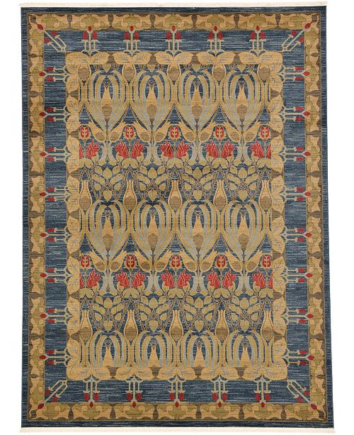 Bridgeport Home Orwyn Orw3 Blue 8' x 11' Area Rug