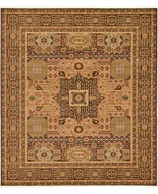 "Wilder Wld1 Brown 10' x 11' 4"" Square Area Rug"