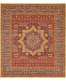 """Wilder Wld4 Red 10' x 11' 4"""" Square Area Rug"""