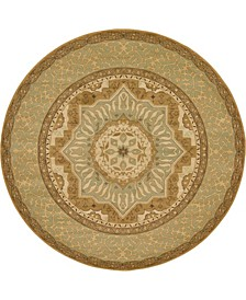 Wilder Wld4 Light Green 8' x 8' Round Area Rug