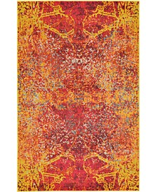 Bridgeport Home Newwolf New3 Red 5' x 8' Area Rug