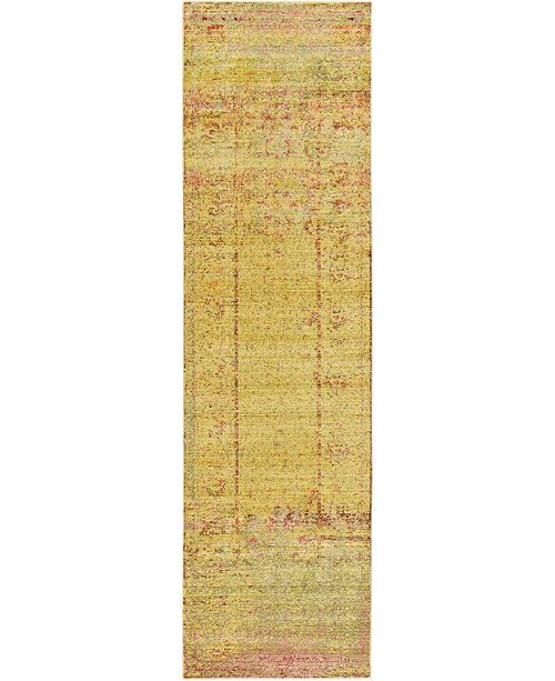 "Bridgeport Home Malin Mal8 Yellow 2' 7"" x 9' 10"" Runner Area Rug"