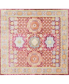 Bridgeport Home Malin Mal1 Red 8' x 8' Square Area Rug