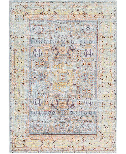 Bridgeport Home Malin Mal1 Light Blue 6' x 9' Area Rug