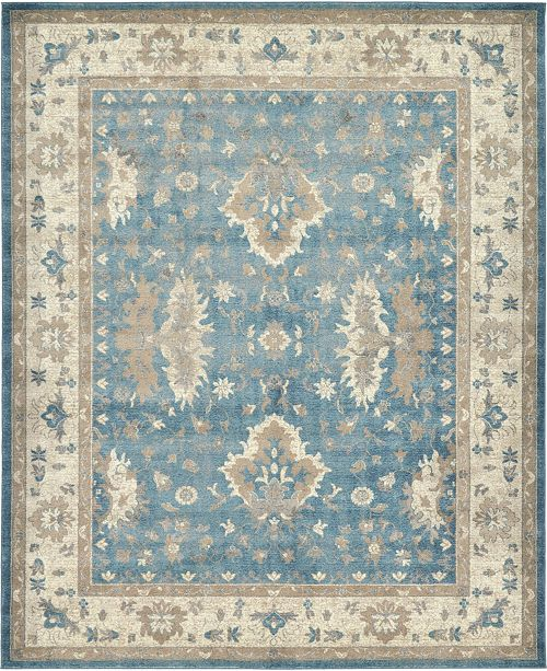 Bridgeport Home Bellmere Bel5 Light Blue 8' x 10' Area Rug