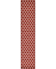 "Arbor Arb1 Red 2' 7"" x 13' Runner Area Rug"