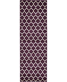 "Arbor Arb1 Purple 2' 7"" x 8' Runner Area Rug"