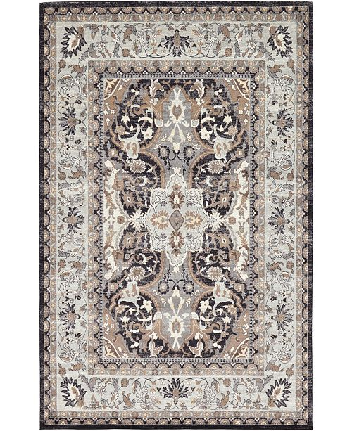Bridgeport Home Wisdom Wis2 Charcoal 9' x 12' Area Rug