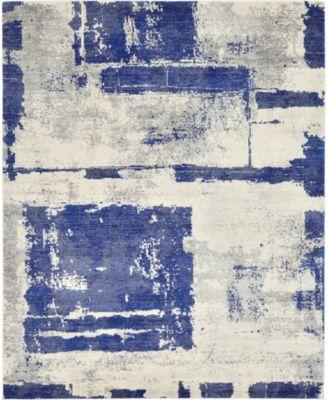 Wisdom Wis4 Navy Blue 8' x 10' Area Rug