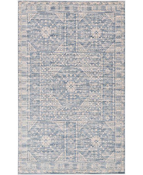 Bridgeport Home Caan Can3 Blue 5' x 8' Area Rug