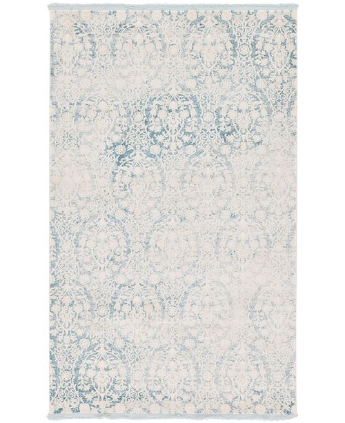 Bridgeport Home Norston Nor5 Light Blue 5' x 8' Area Rug