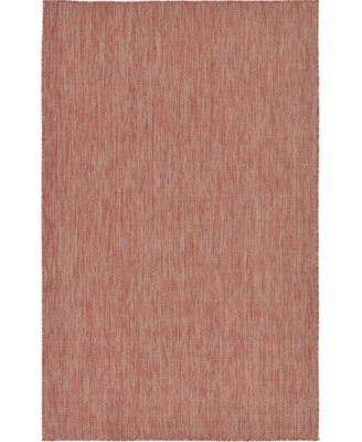 Pashio Pas6 Rust Red 5' x 8' Area Rug