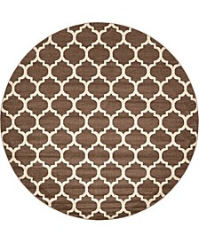 Arbor Arb1 Light Brown 10' x 10' Round Area Rug