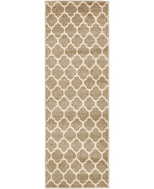 Bridgeport Home Arbor Arb1 Tan 2' x 6' Runner Area Rug