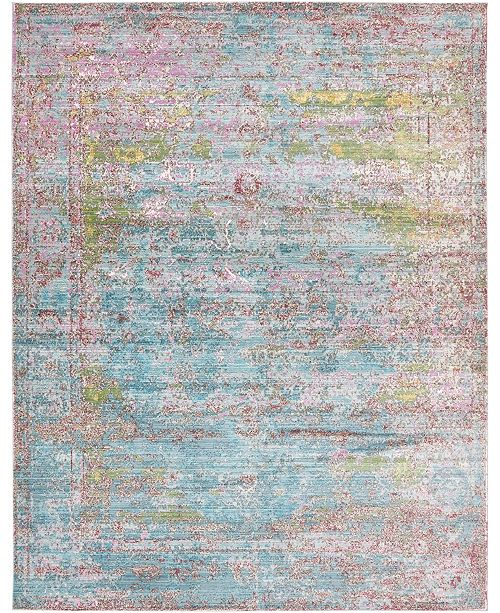 Bridgeport Home Malin Mal1 Blue 9' x 12' Area Rug