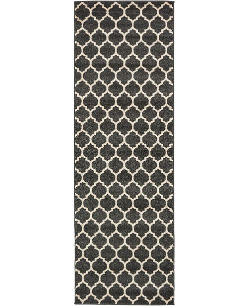 "Bridgeport Home Arbor Arb1 Black 2' 7"" x 8' Runner Area Rug"